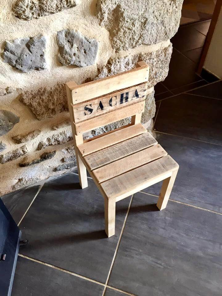 diy pallet small cute chair