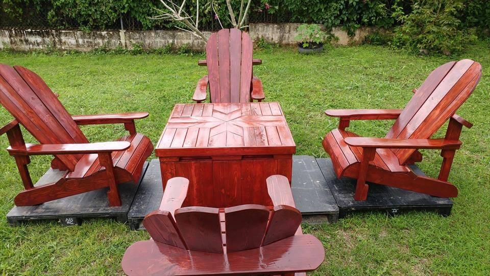 wooden pallet Adirondack seating