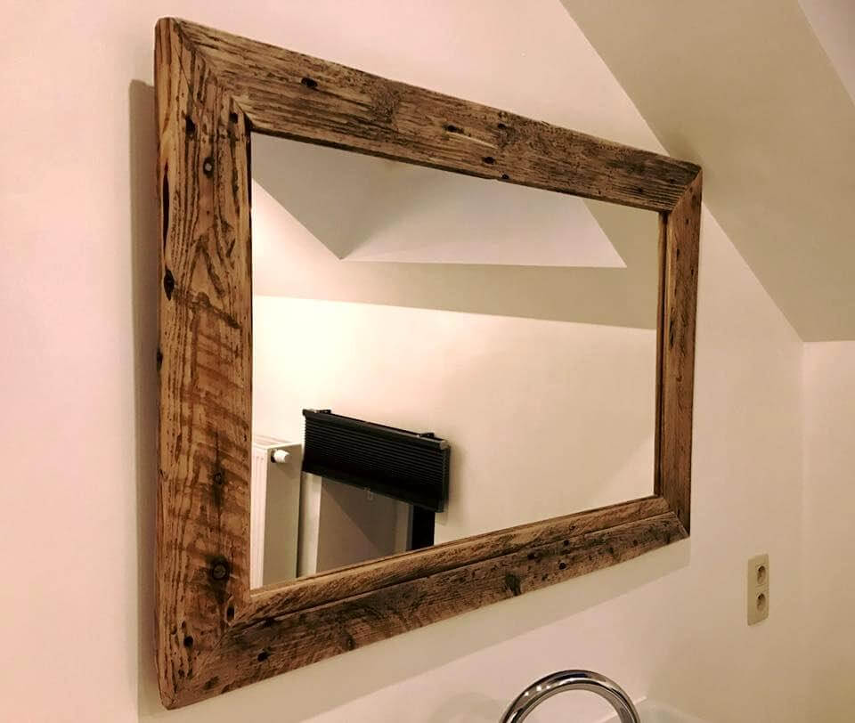 Diy Pallet Bathroom Vanity And Mirror Pallets Pro