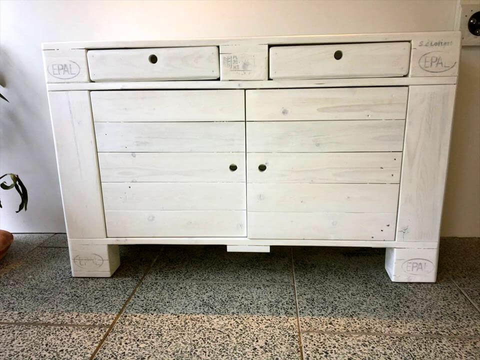 gorgeous pallet chest of drawers