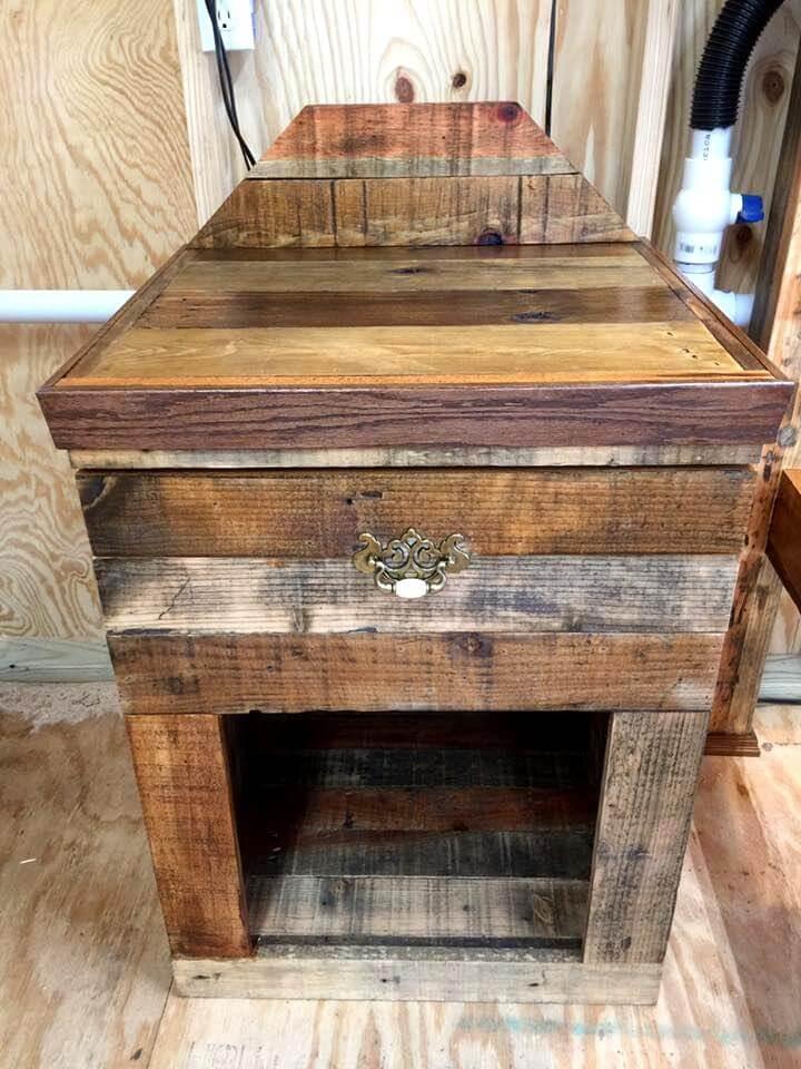 wooden pallet night stand