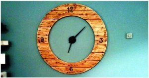 DIY Round Shape Pallet Clock