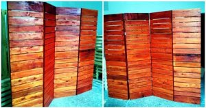 DIY Upcycled Pallet Room Divider