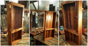DIY Wood Pallet Kitchen Pantry