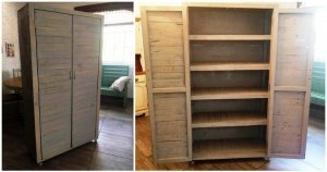 DIY Wood Pallet Cupboard
