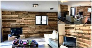 DIY Pallet Wall Paneling / Wall cladding