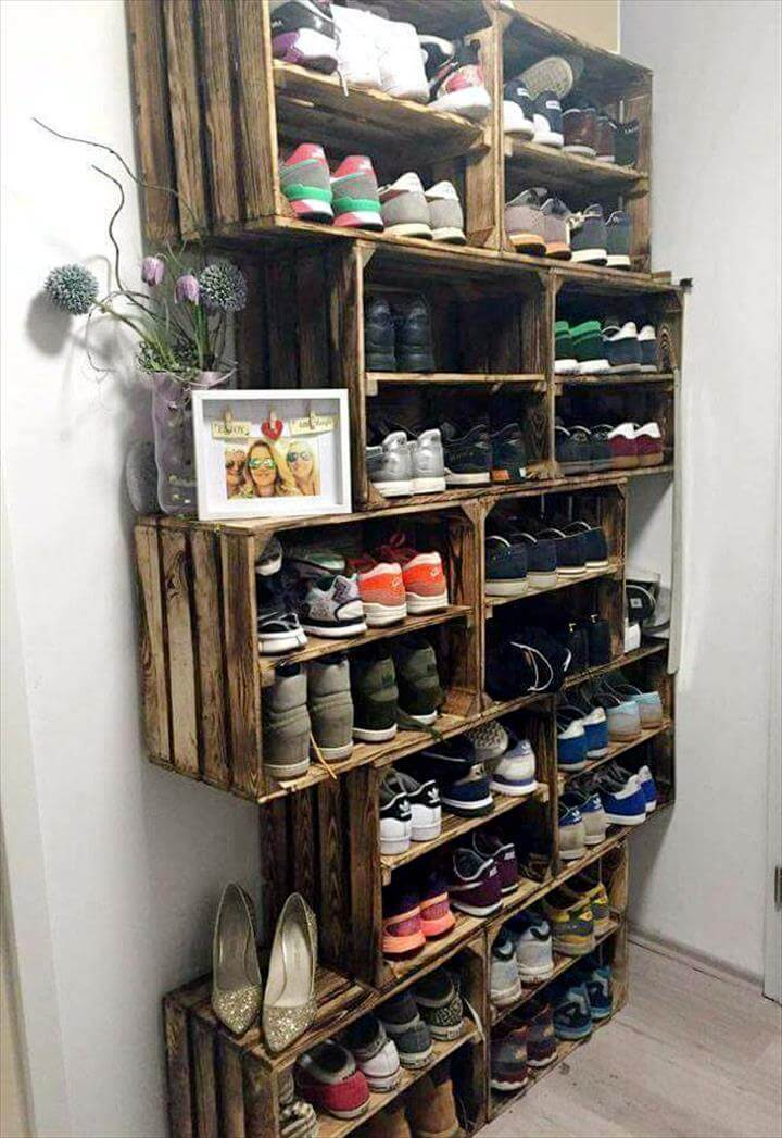 extra large pallet shoes rack