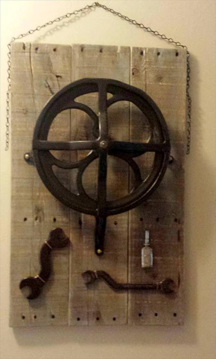 handmade pallet antique wall art