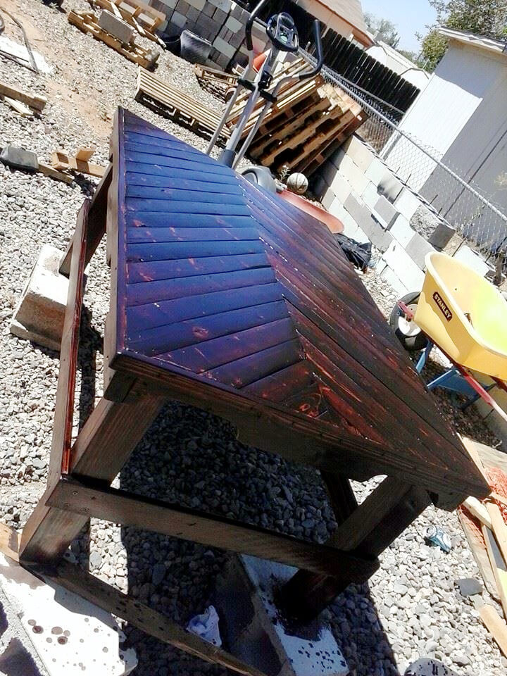 chevron pallet coffee table