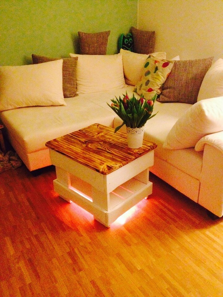 recycled pallet mini coffee table