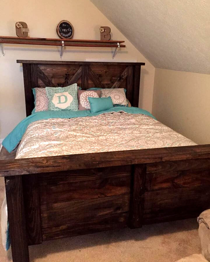 low-cost study wooden pallet bed