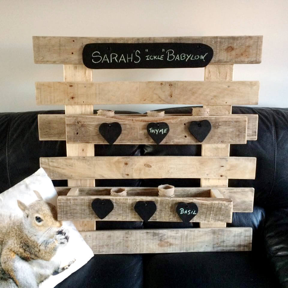 diy pallet custom-made love wall shelves