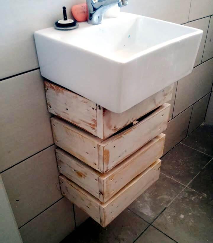 diy pallet wood vanity