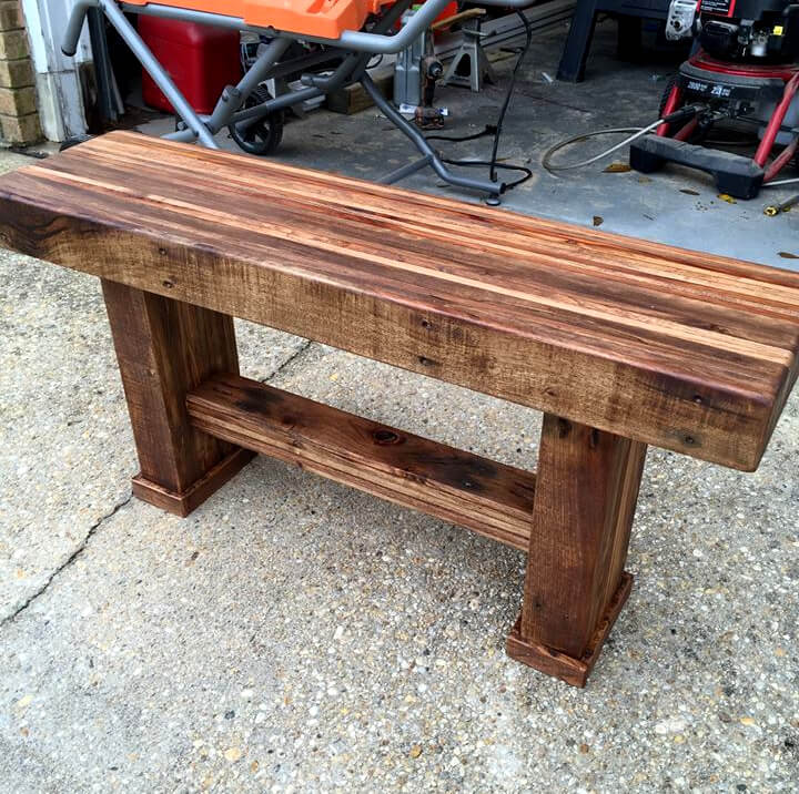 wooden pallet beefy bench