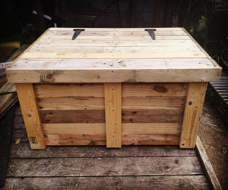 robust wooden chest