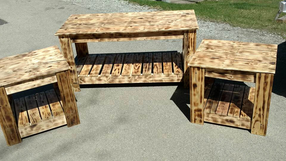 no-cost pallet living room table set