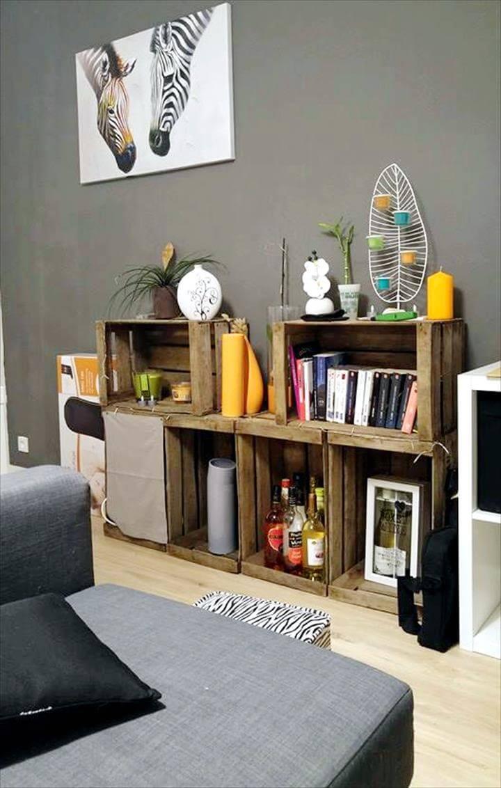 pallet crate shelves