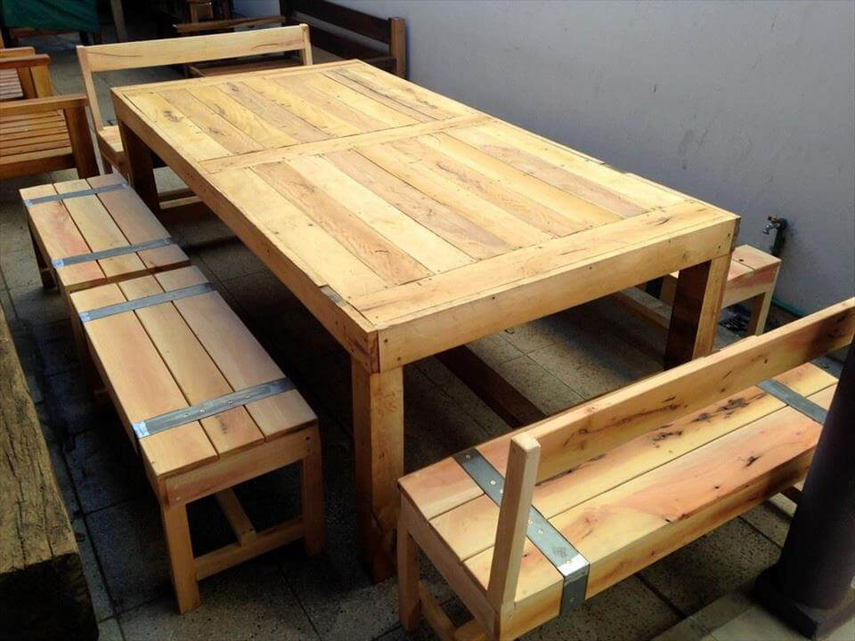 handcrafted pallet dining set