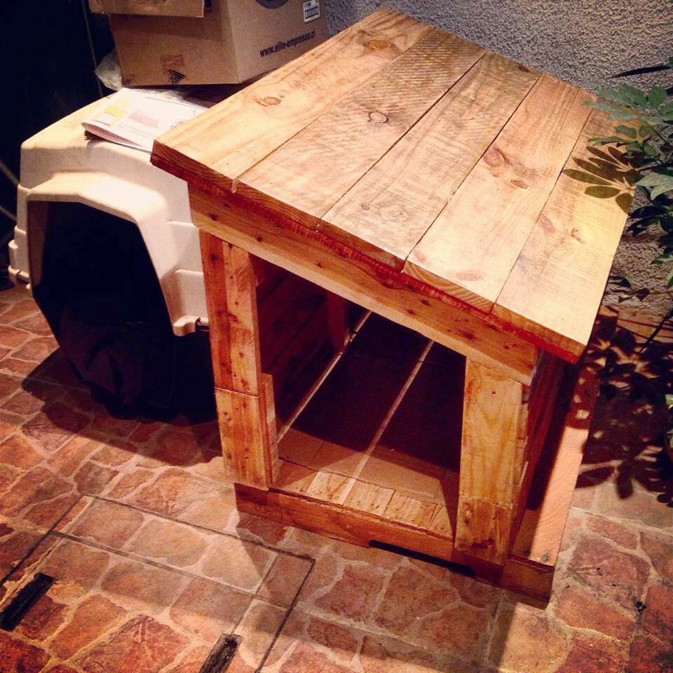 handmade pallet dog house