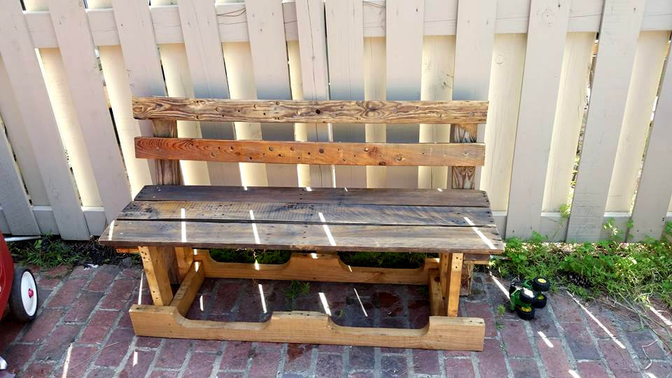 no-cost pallet sturdy outdoor bench