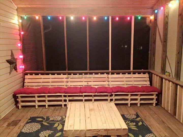 handmade pallet party lounge