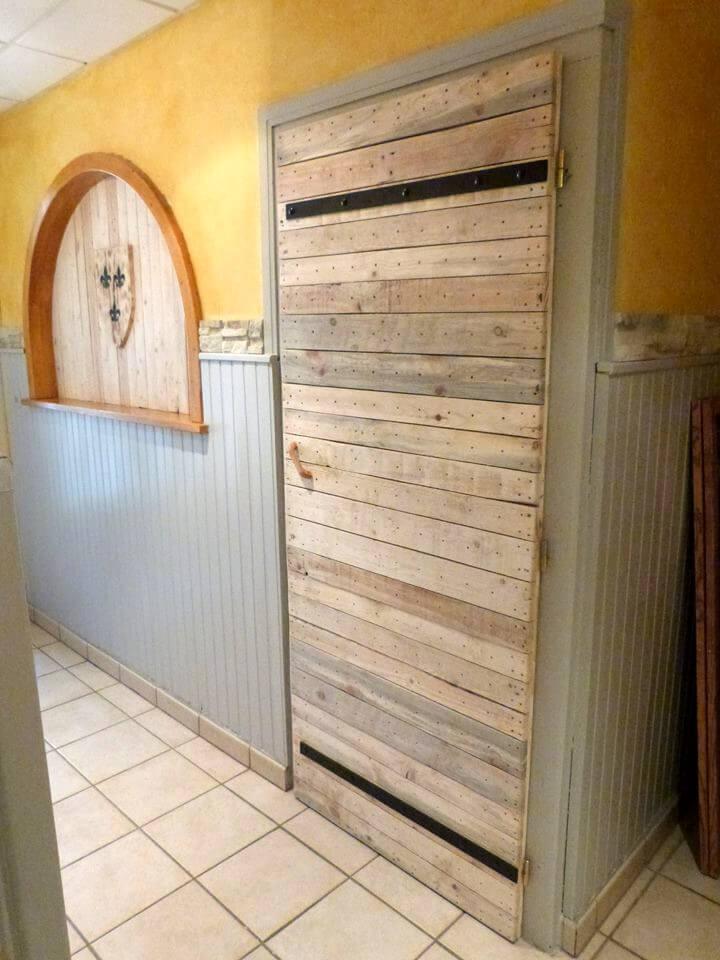 rustic wooden pallet gate