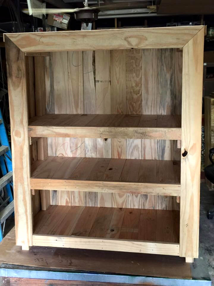 handcrafted pallet mini cabinet or nightstand