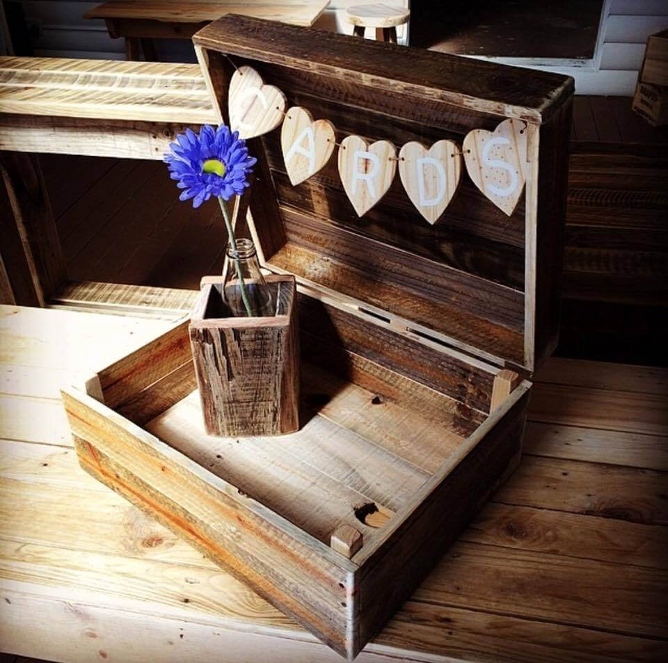 custom pallet mini storage box or chest
