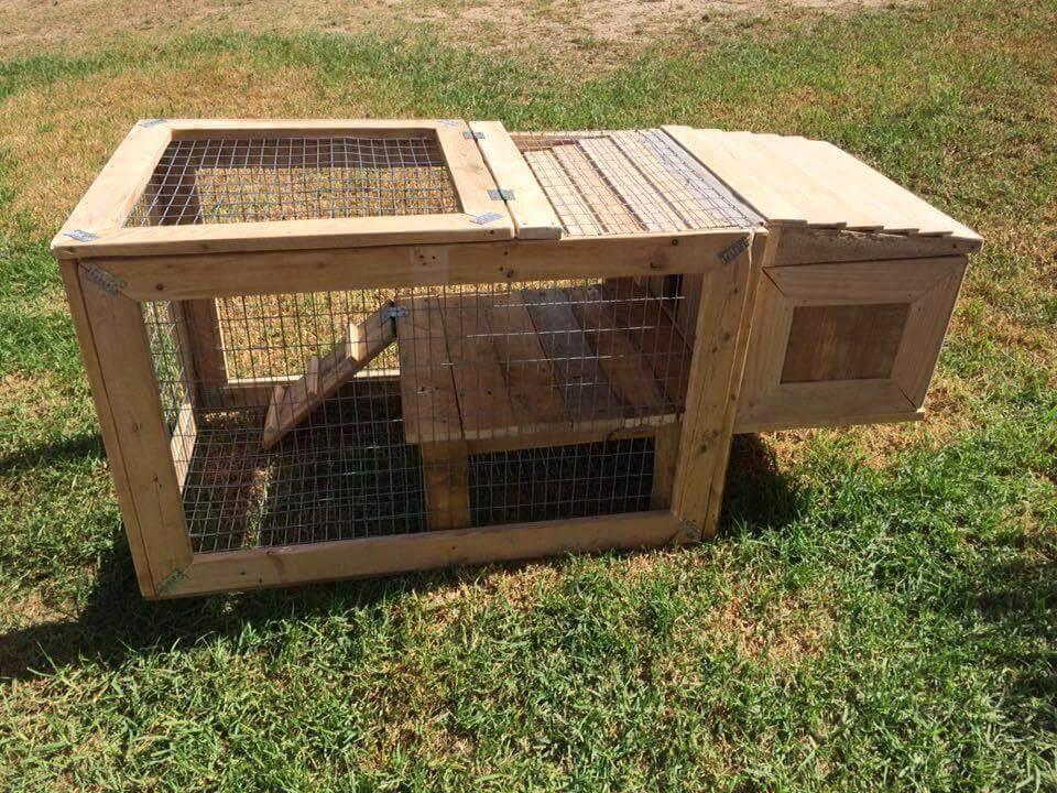 unique wooden pallet chicken coop