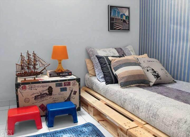 amazing pallet platform bed
