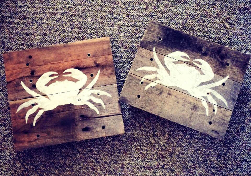 pallet white painted scorpion coasters