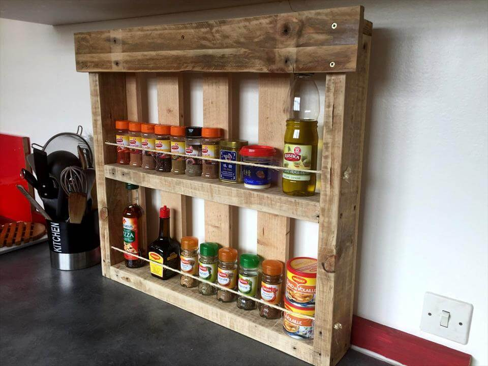 robust pallet spice kitch spice rack
