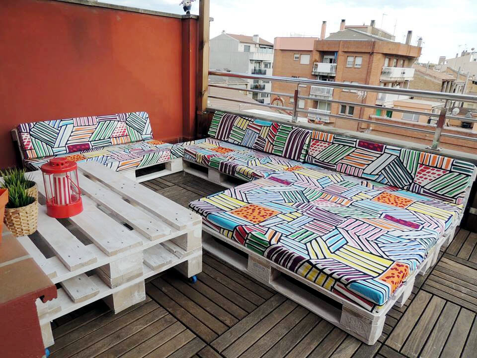custom pallet terrace sofa set
