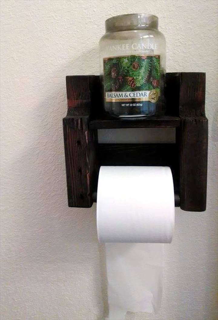custom pallet toilet paper roll holder