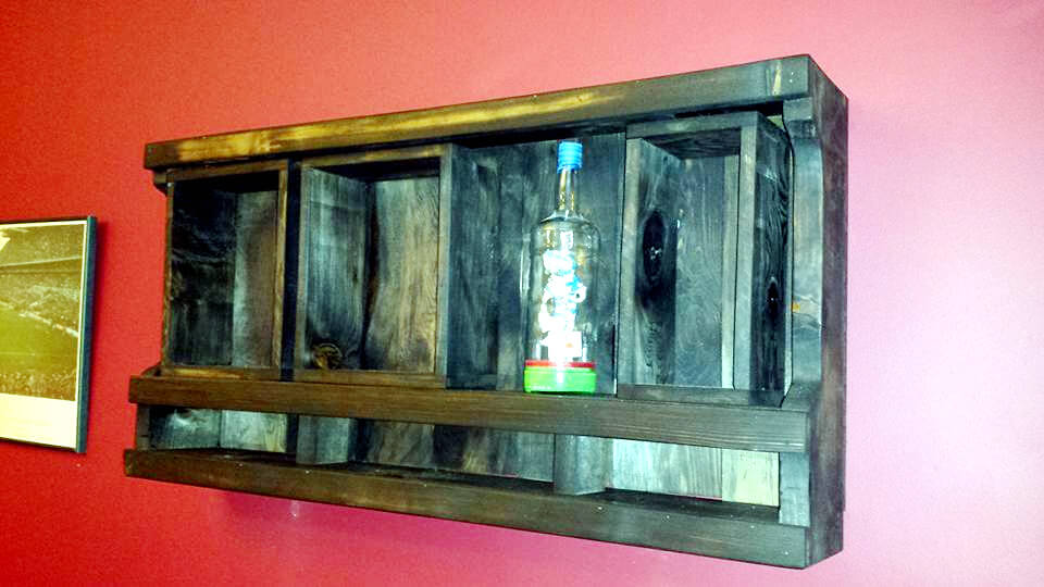 upcycled pallet wall organizer