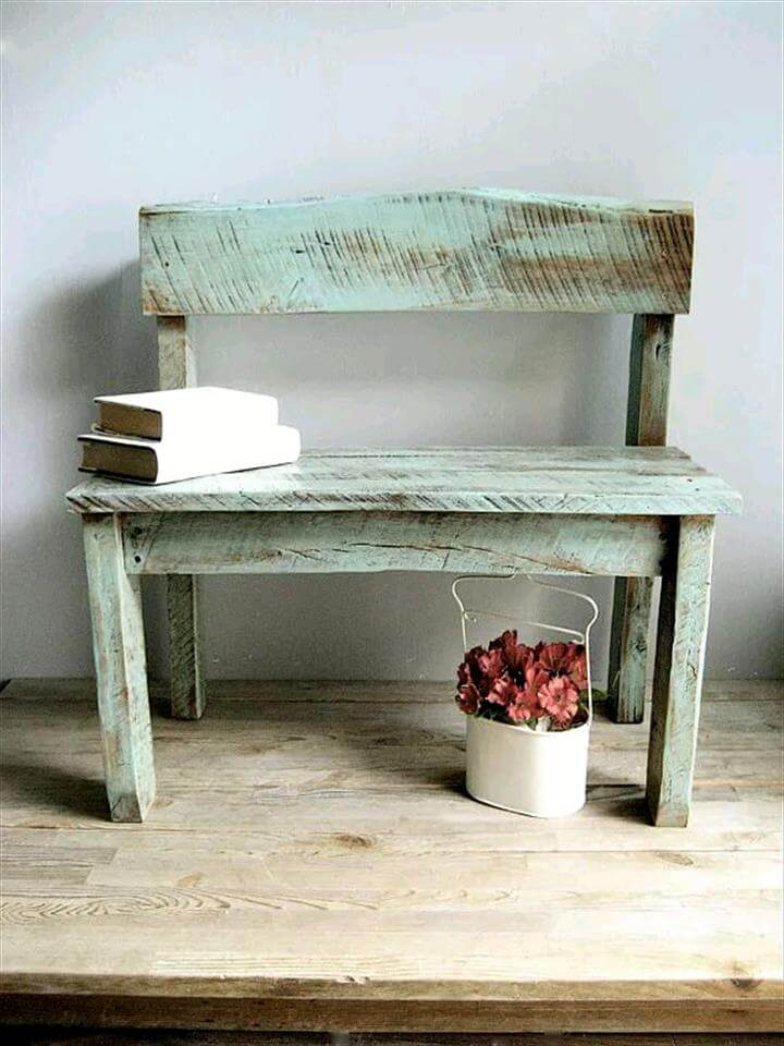 distressed pallet bench