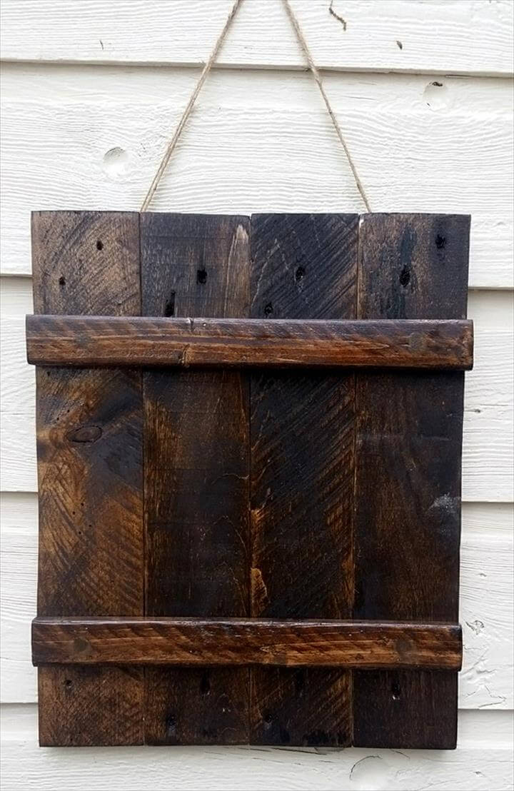 diy rustic wall hanging wooden frame
