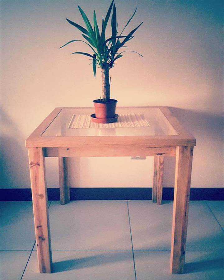 wooden pallet potting stand