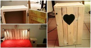 DIY Pallet Bedside Table