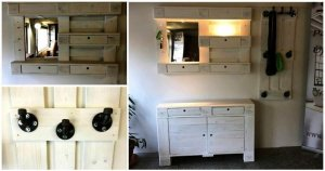 Pallet Chest of Drawers and Coat Rack