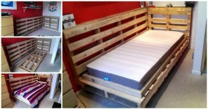 DIY Pallet Bed Design for Corner