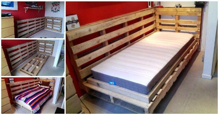 Diy Pallet Bed Design For Corner Pallets Pro