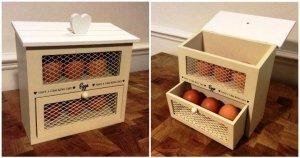 DIY Pallet Egg Holder