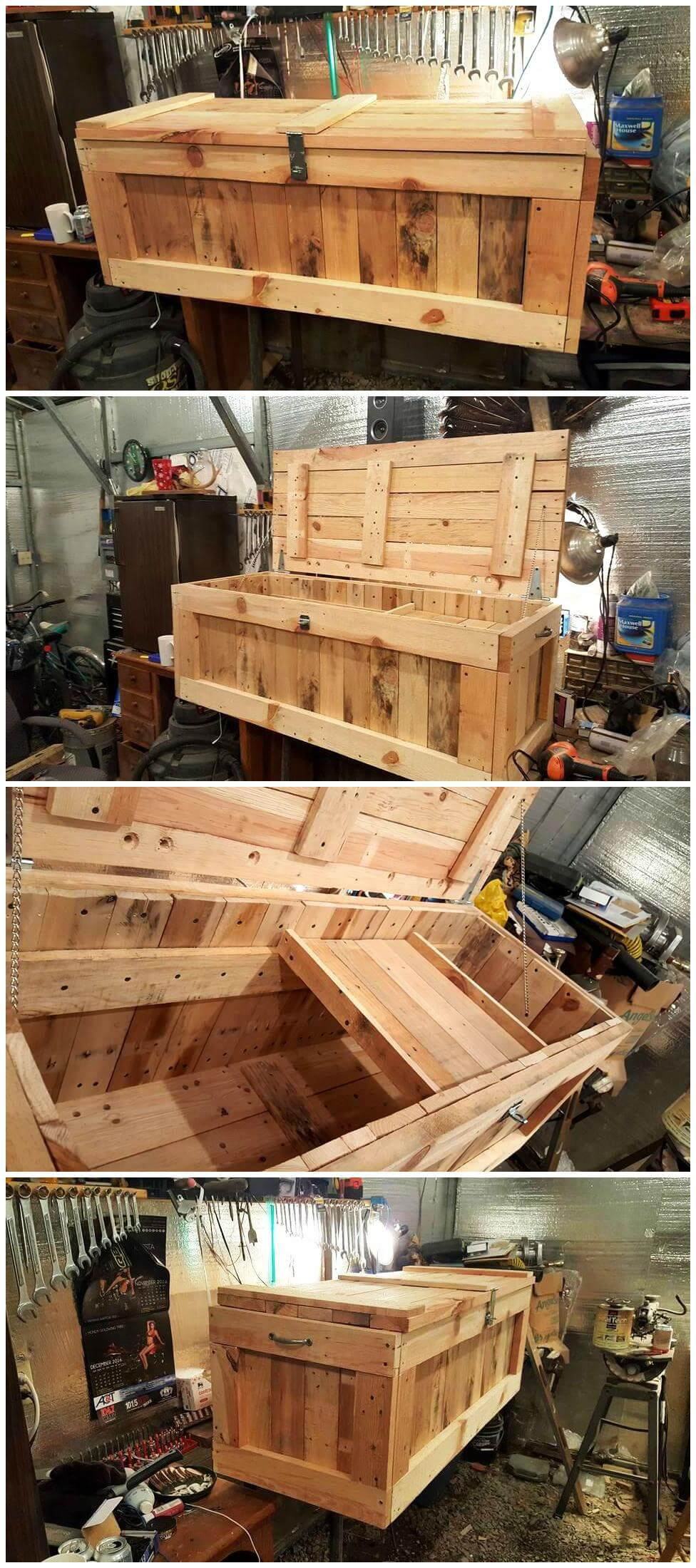 DIY Pallet Trunk Pallet Chest Pallets Pro