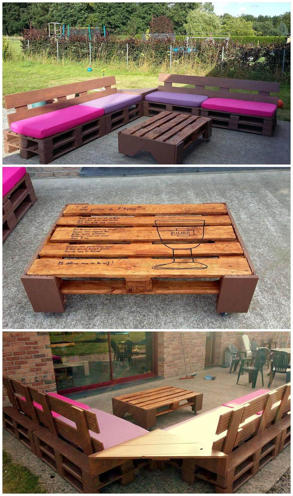 Simple And Stylish Pallet Outdoor Furniture Set Pallets Pro