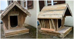 Upcycled Wood Pallet Dog House