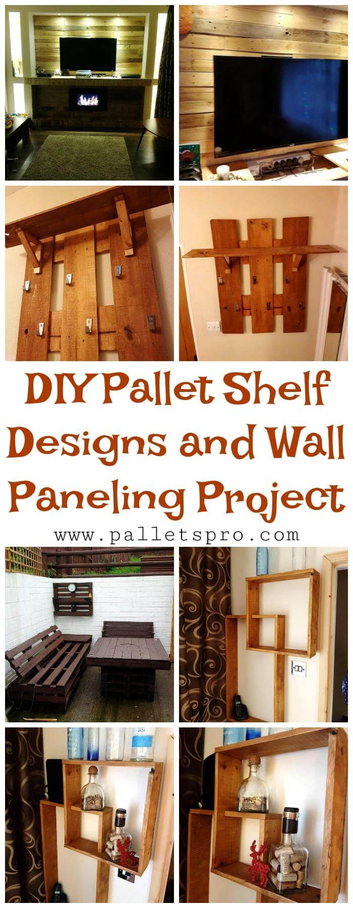 Pallet Shelf Designs and Wall Paneling