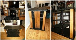 DIY Upcycled Pallet Media Console Table