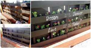 Pallet Vertical Planter and Seating Set for Garden