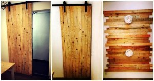 Pallet Wall Paneling and Sliding Door & 300+ Pallet Ideas and Easy Pallet Projects You Can Try - Pallets Pro